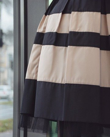 Sukienka BEIGE BLACK